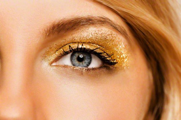 новогодний макияж глаз — вечерний макияж