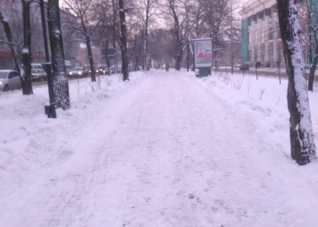 Съёмка в снегопад