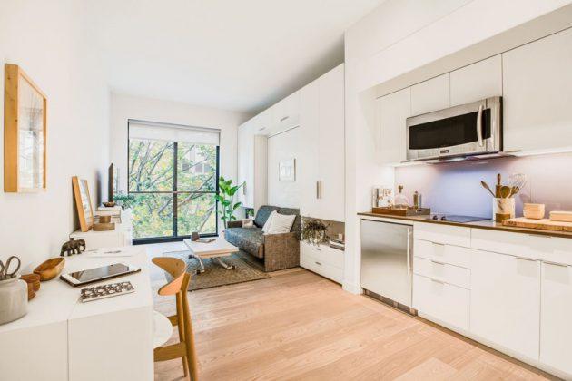 Модульные мини-квартиры с трансформируемой мебелью