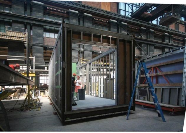 Модульный дом: сначала изготавливают крупные металлические каркасы