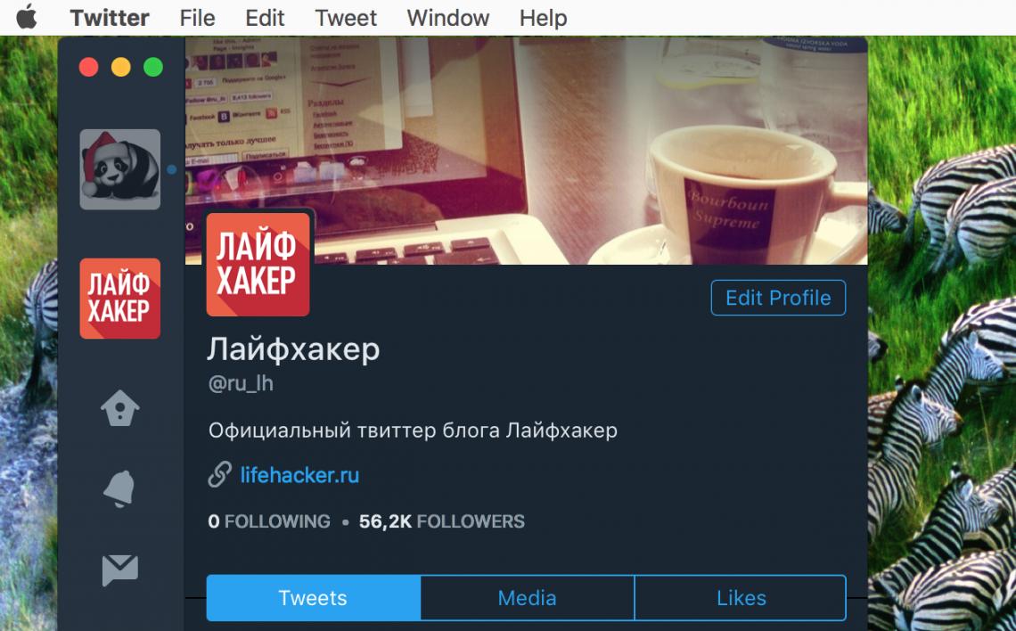 Новый клиент Twitter для Mac: тёмная тема, поддержка ретвитов и гифок и многое другое