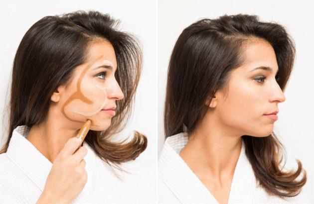 Правило двух троек для контурирования лица — вечерний макияж