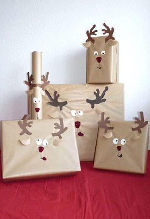 украсить подарок мордочкой оленя