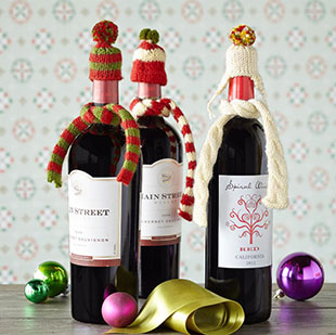 как украсить бутылку вина