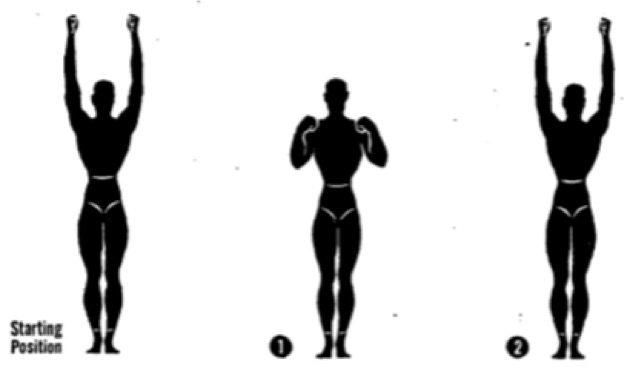 Упражнения для осанки. Отведение рук назад