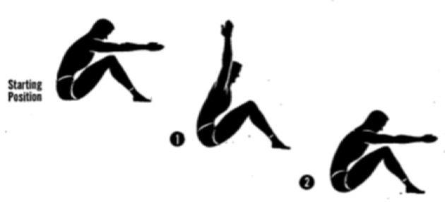 Упражнения для осанки. Подъём рук из положения сидя