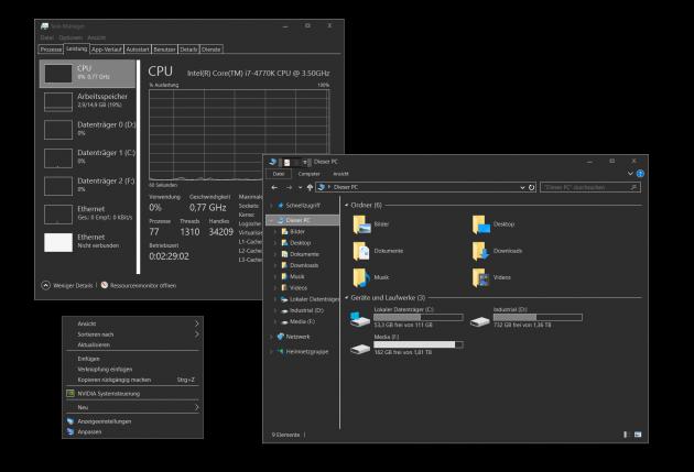 Темы в Windows 10: new grey theme