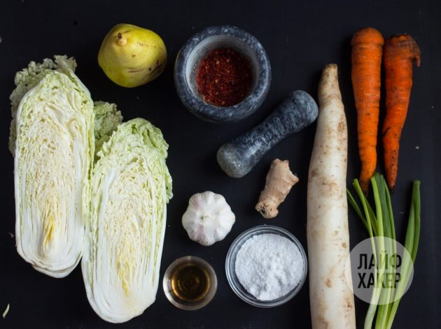 Как приготовить кимчи: ингредиенты
