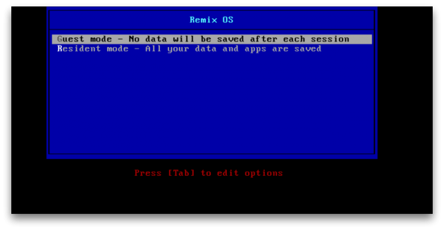 Remix OS 2.0: меню