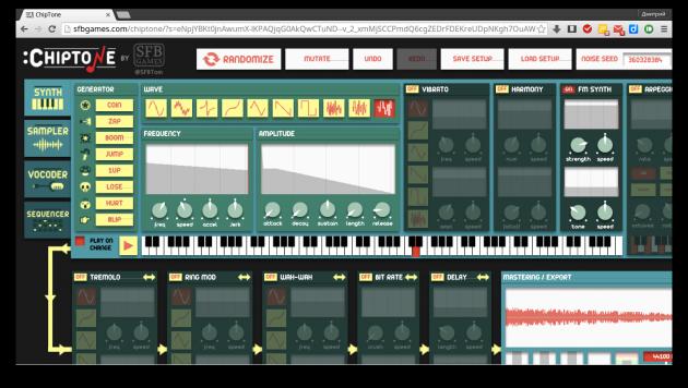 Как создать звуки для игр и мультиков: ChipTone