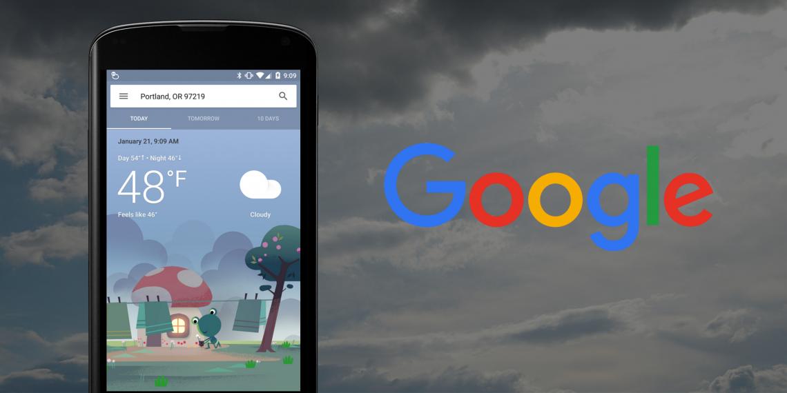 Прогноз погоды от Google на Android стал удобнее и красивее
