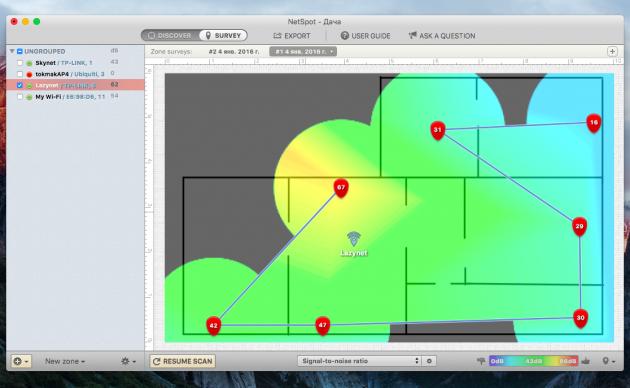 NetSpot: карта качества покрытия