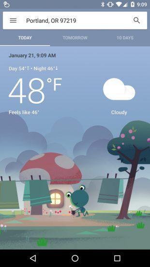 Прогноз погоды на Android