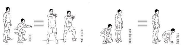 Модификации стандартных упражнений для колен