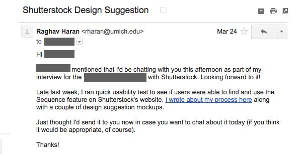 Письмо в Shutterstock