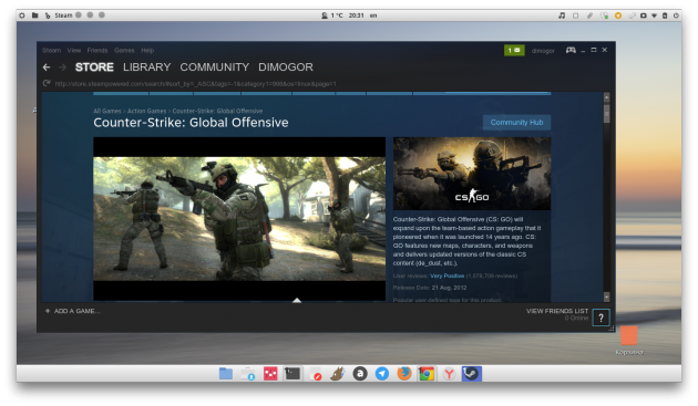 Linux Mint Steam