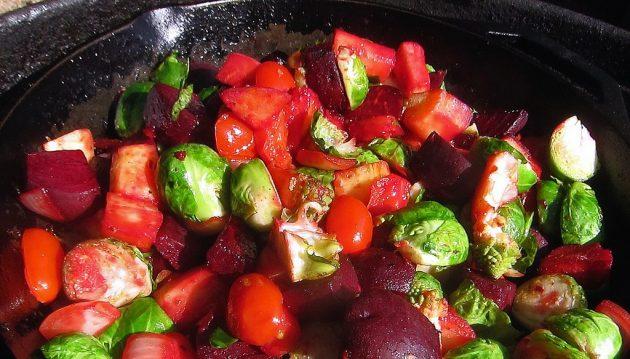 Поджарьте овощи