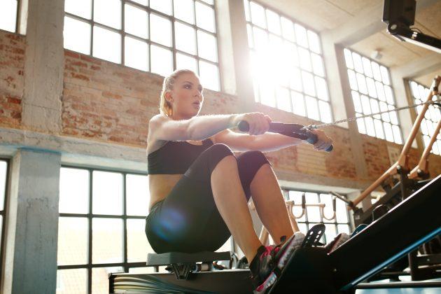 кросс-тренинг — гребной тренажер