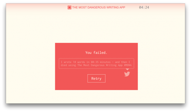 The Most Dangerous Writing App fail