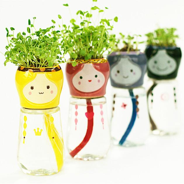Горшки с автоматическим поливом с Aliexpress домашний сад