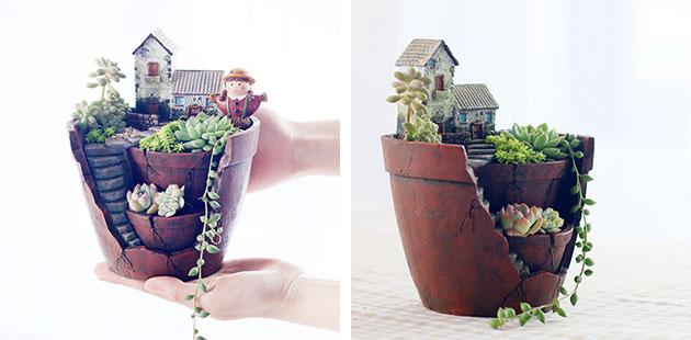Цветочный горшок необычной формы с Aliexpress