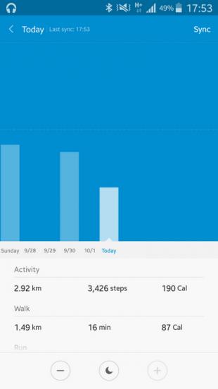 Mi Fit: статистика активности за день
