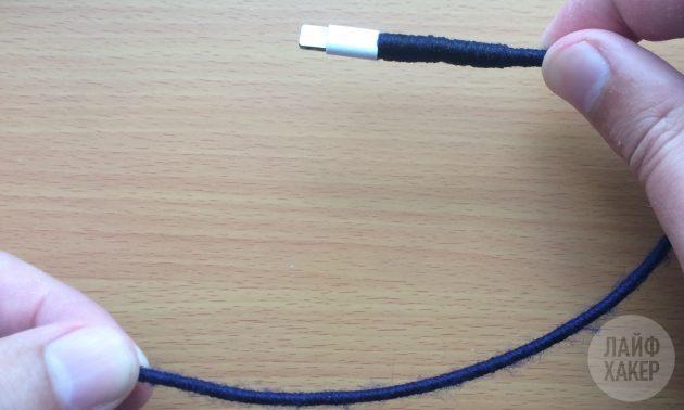 Как починить Lightning-кабель: делаем утолщения