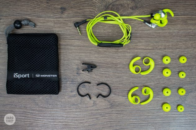 Monster iSport Victory: комплект поставки
