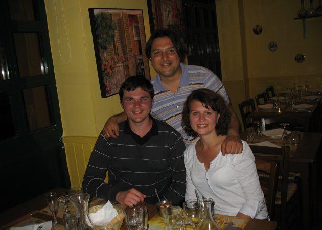 Хост и хозяин ресторана в Риме — Кристиан