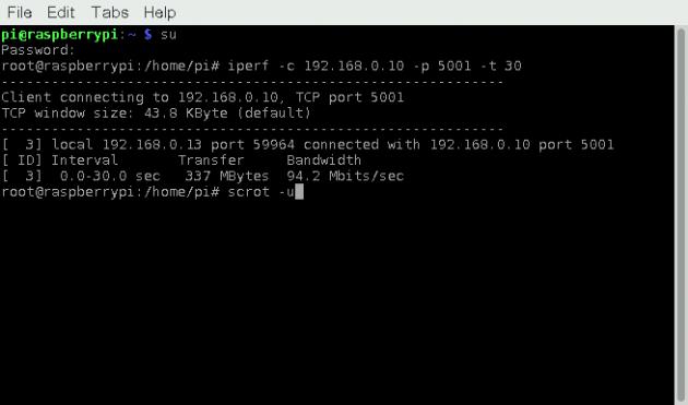Raspberry Pi 3: пропускная способность проводной сети