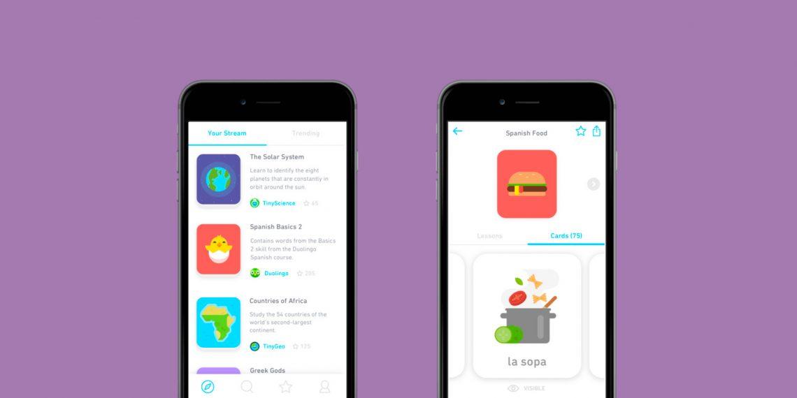 Tinycards для iOS — новое приложение Duolingo для запоминания чего угодно