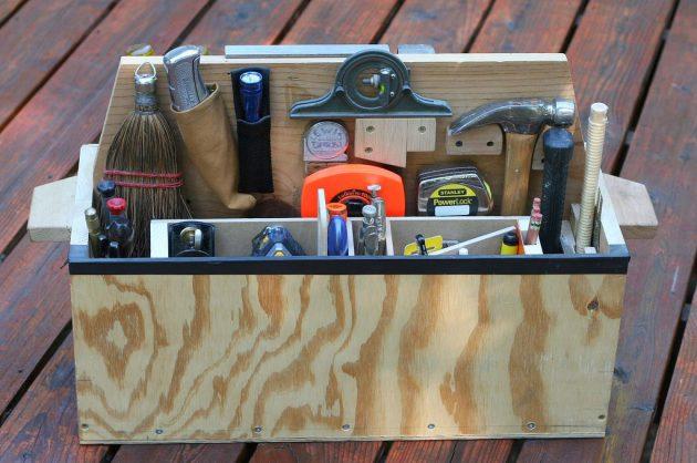Переносные ящики для инструментов своими руками 162