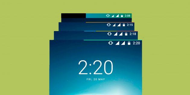 Energy Bar для Android поможет сделать индикатор заряда батареи более наглядным