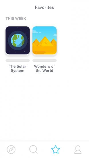 Tinycards: выбор интересных тем