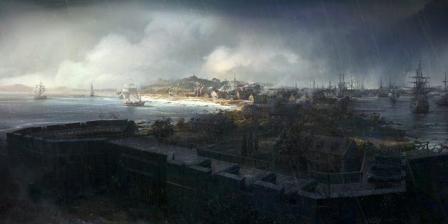 assassinscreed3_environment_boston_rain_by_william_wu