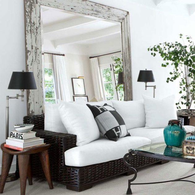 Дизайн маленькой квартиры: большое зеркало