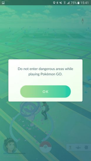 Pokémon GO dangeros