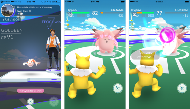 Pokémon Go battle