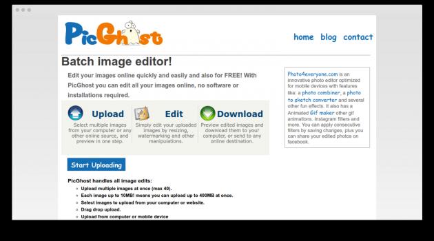 PicGhost screen