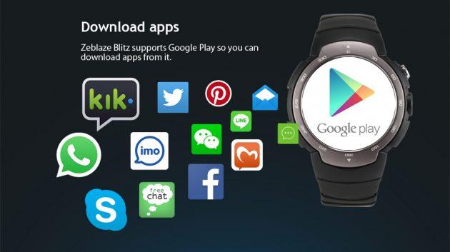 Zeblaze Blitz: работа с приложениями