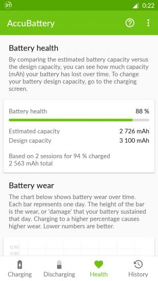 AccuBattery для Android: здоровье