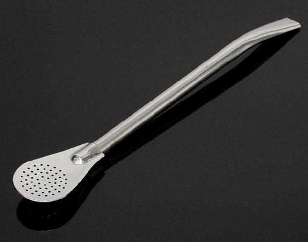 Чайная ложка с трубочкой