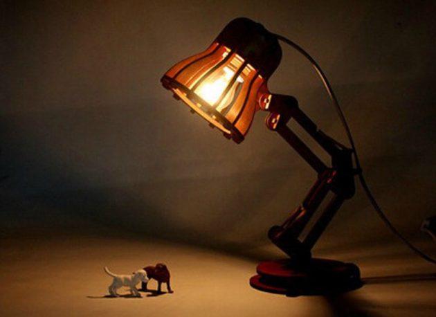 Деревянная лампа своими руками