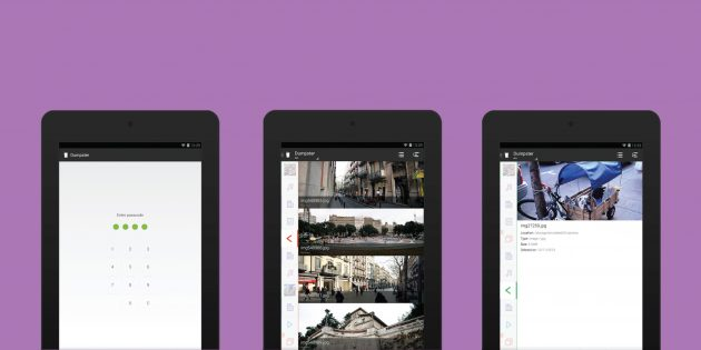Dumpster — корзина для удалённых файлов в Android