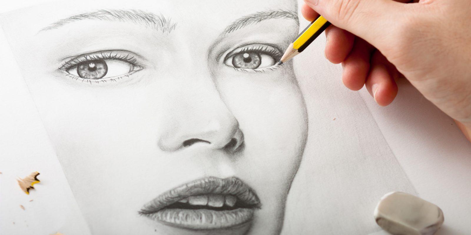 Как сделать портрет карандашом
