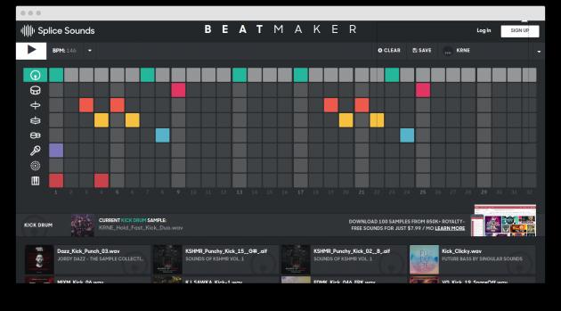 Beatmaker: main window