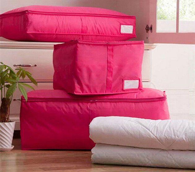 Как хранить вещи. Чехлы для хранения подушек и одеял