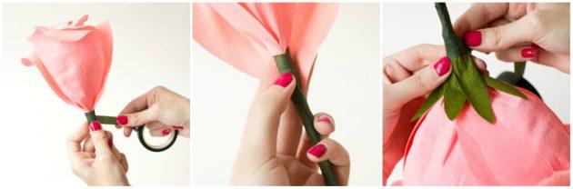 Как сделать из бумаги розу: оформление