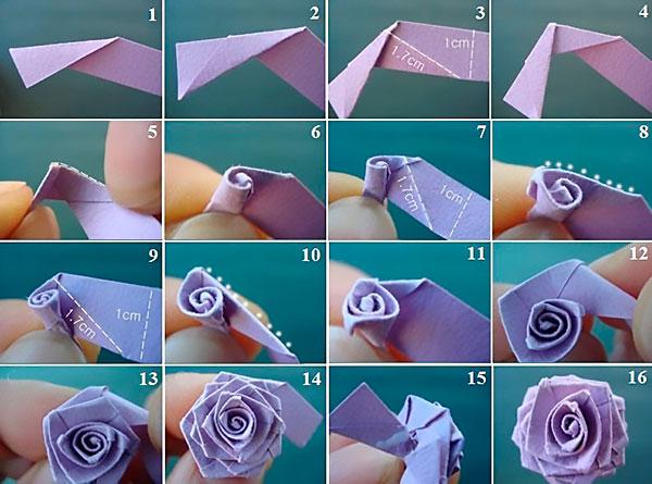 Роза из бумаги: изготовление