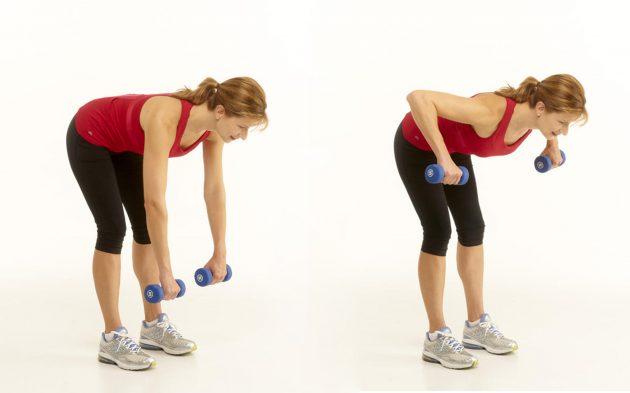 мышцы верхней части спины: тяга груза